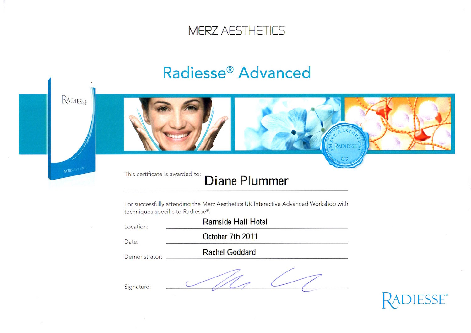Radiesse Dermal Fillers Advanced Certification Diane Plummer Revive Aesthetics