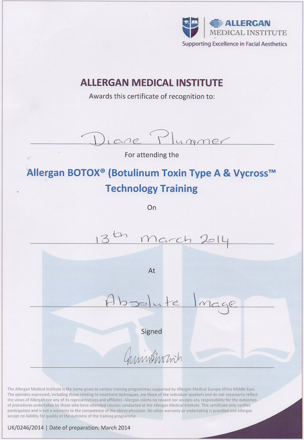 Allergan Medical Institute - Botox & Vycross technology training