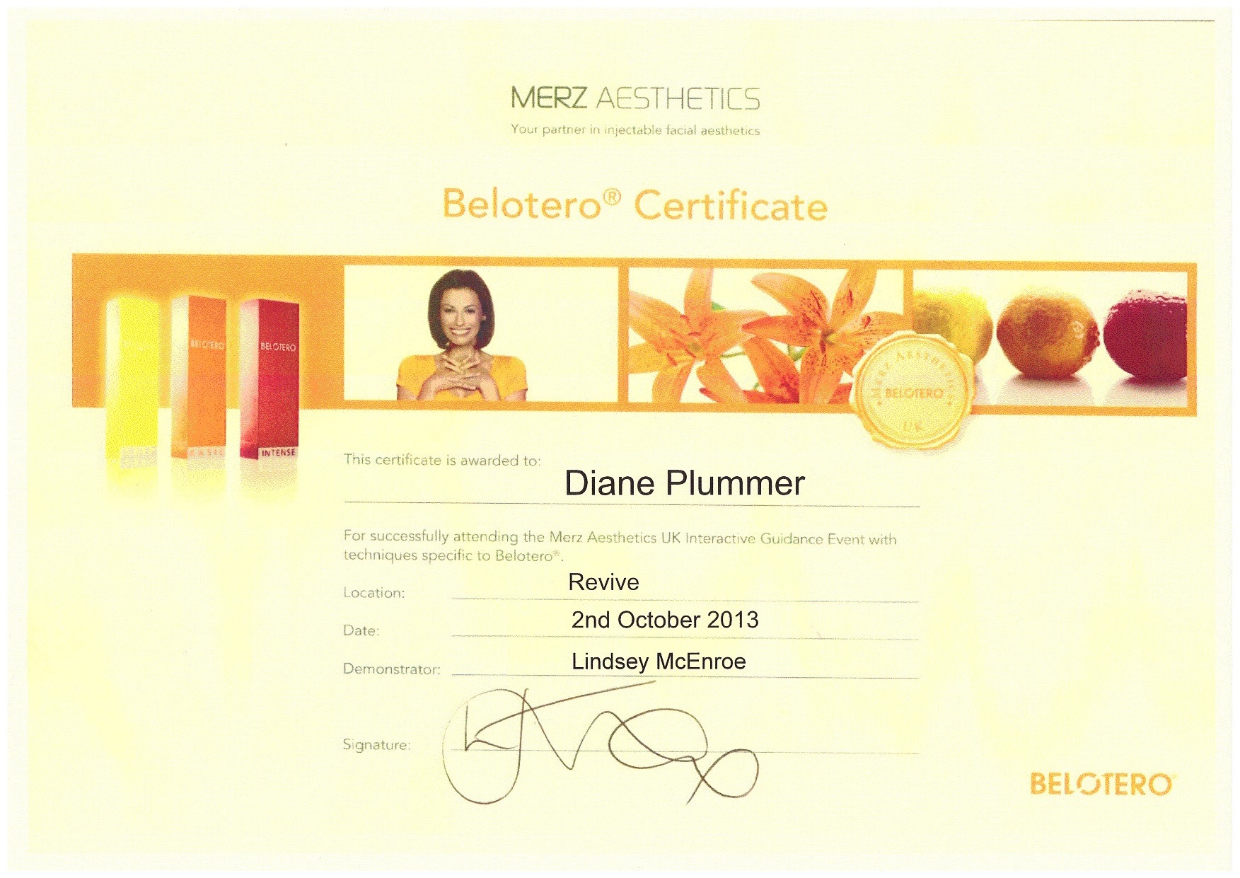 Merz Aesthetics - Belotero certification