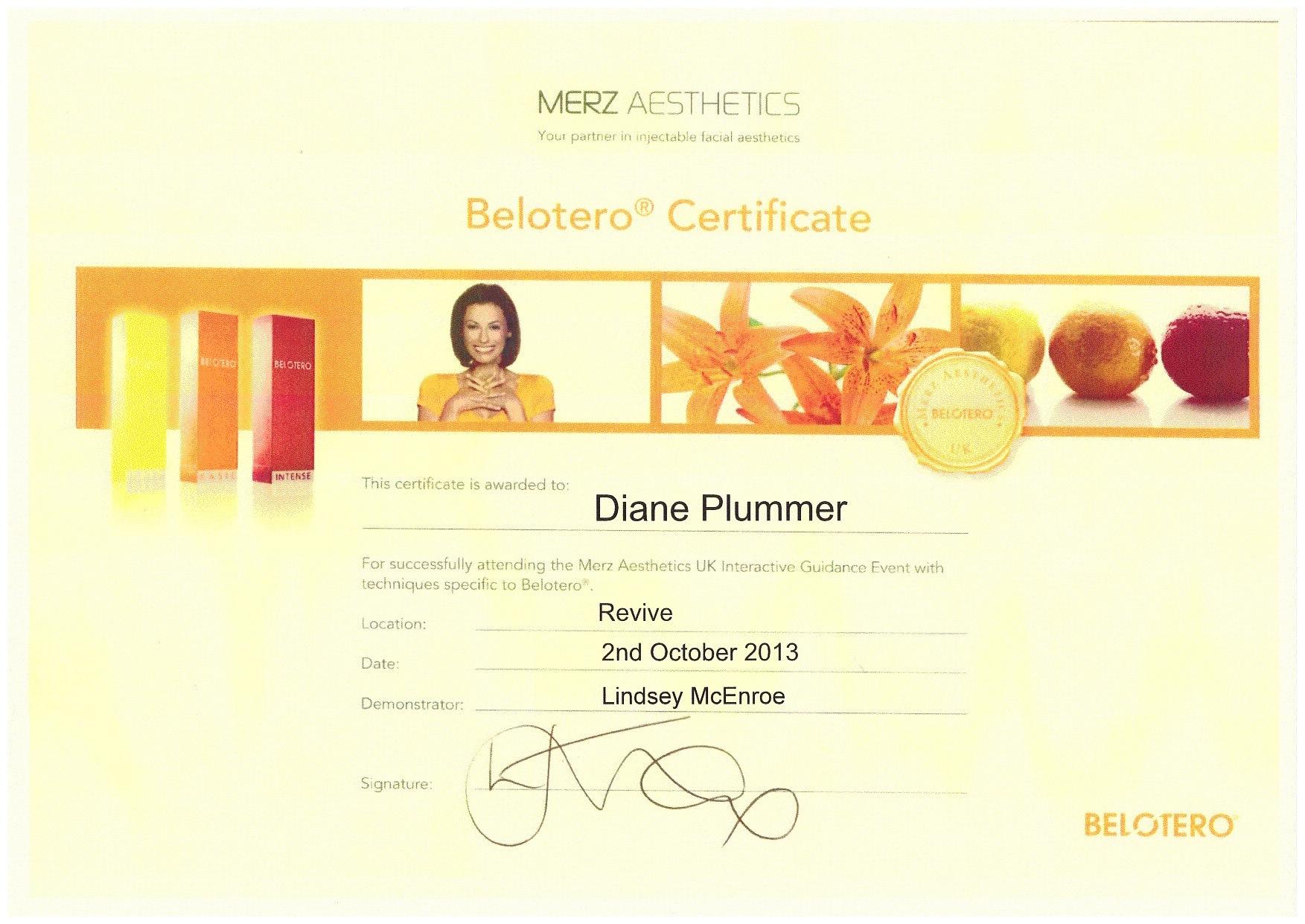 Merz Aesthetics - Belotero certification