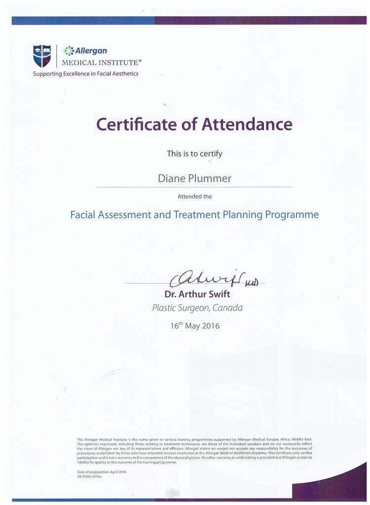 Allergan Medical Institute - Facial Assessment & Planning Programme